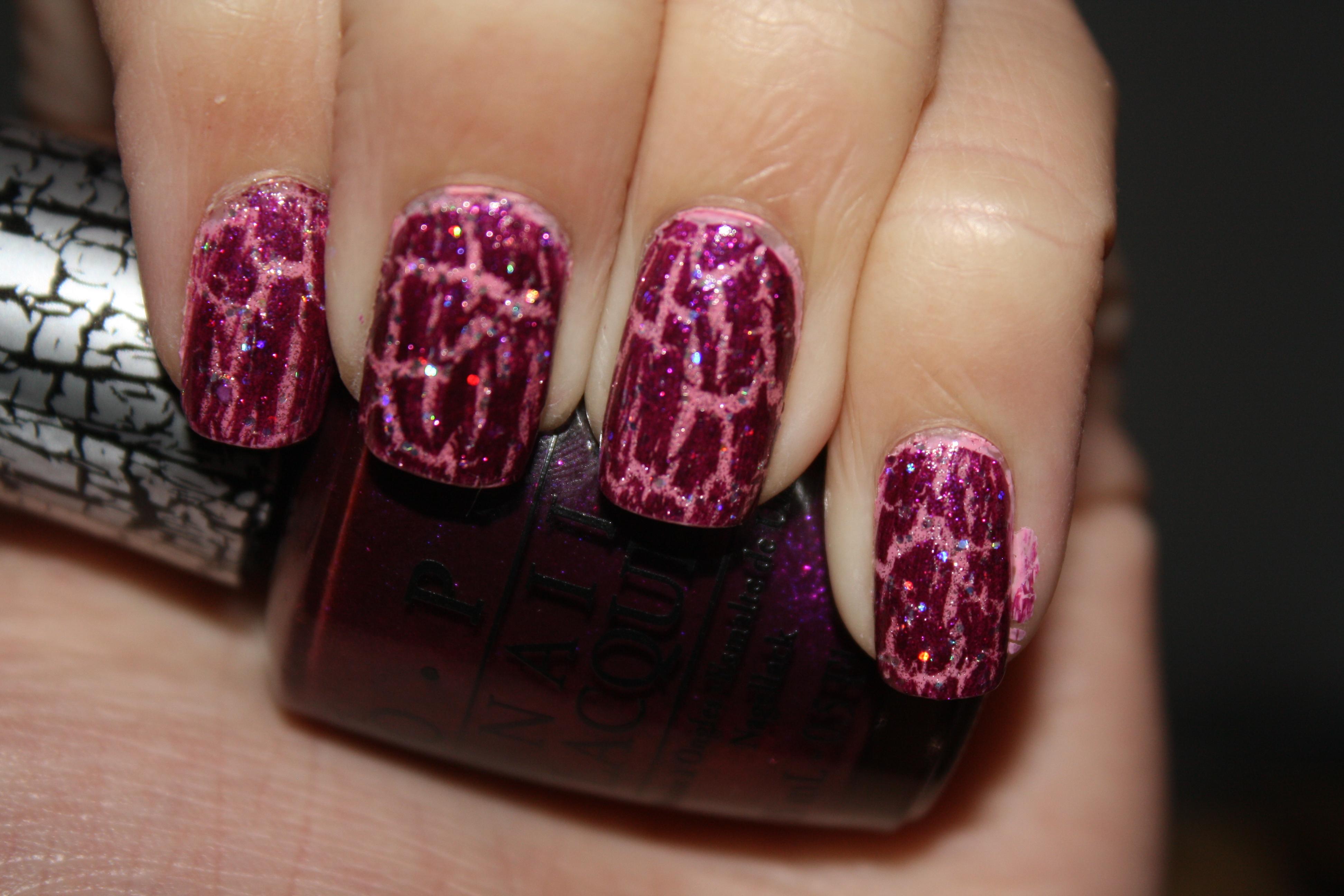 Nicki Minaj by OPI Super Bass Shatter Nail Polish Review, Swatches ...